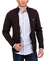 POLO CLUB Chaqueta Punto Gentle Rib Lz (Marrón Oscuro)