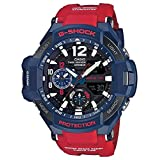 Casio G-Shock GA-1100 Gravitymaster Stylish Watch - Blue / One Size (Color: Blue/Red, Tamaño: one-size)