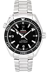 Omega Men's 232.30.42.21.01.001 Seamaster Planet Ocean Black Dial Watch