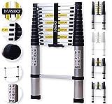 Masko® Teleskopleiter 3,80M ALU Leiter Aluleiter Stehleiter...