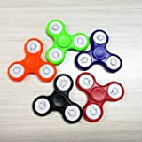 Generic ECUBEE ABS Hand Spinner Finger Spinner Fidget Replaceable Batteries With Switch 5 Colors-red
