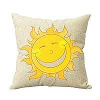 Cartoon Sun Yellow Throw Pillow Customized Standard Home Decor Square Throw Pillow Case Cushion Cover Pillowcase Pillow Cover 18x18 from Piillow