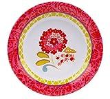 C.R. Gibson Iota Dena Collections Melamine Salad Plate, Garden Spree, 9-Inch, Pink