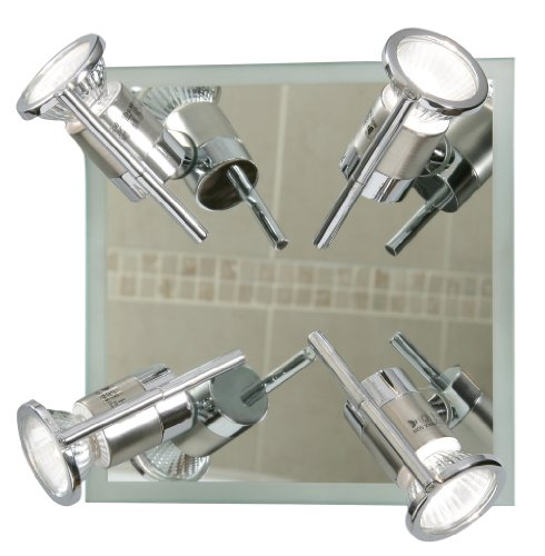 Asah 4 Light Plate  Spot for Bathrooms Polished Chrome Finish