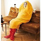 YunNasi天ぷら寝袋 リアルエビフライシュラフカバー 海老フライスリーピングバッグのカバー 可愛い寝袋 冬用 ホーム 仮装 コスプレ あたたかい 防寒 ソフト ふかふか