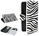 myLife Original Black and Vibrant White Zebra Print {Glamorous Design} Faux Leather (Multipurpose - Card, Cash and ID Holder + Magnetic Closing) Folio Slimfold Wallet for the LG G2 Smartphone (External Textured Synthetic Leather with Magnetic Clip + Internal Secure Snap In Closure Hard Rubberized Bumper Holder)
