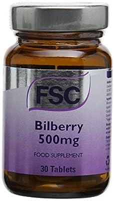 FSC 500mg Bilberry - Pack of 30 Tablets by FSC