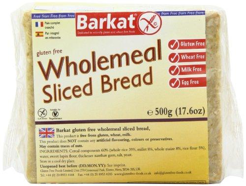 Barkat Gluten Free Wholemeal Sliced Bread 500 g