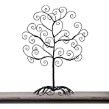 Adeco Twisted Iron Tree Picture/ Photo/ Ornament/ card Holder, Table Desk Top, Self Standing Scroll Design