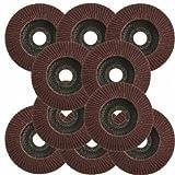 10x Aluminum Oxide 40 Grit 115mm 22mm Angle Grinder Flap Sanding Slitting Discs