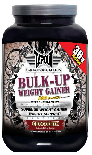 TAPOUT Bulk-Up Weight Gainer, Chocolate, 3.4-Pound Tub