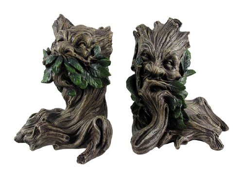 Beautiful Green Man Greenman Decorative Bookends Tree Man
