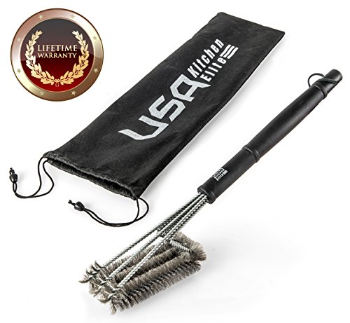 Bbq grill brush by usa kitchen elite barbecue grill for Perfect kitchen cleaner