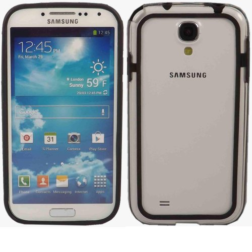 Bumper Fall Decken Haut Für Samsung Galaxy S4 i9500 i9505 / Clear Black