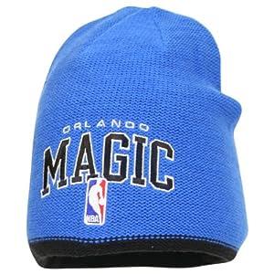 NBA adidas Orlando Magic Authentic Team Reversible Knit Beanie - Royal Blue Black by adidas