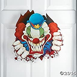 Deluxe Large Evil Scary Big Top Terror Clown Window Cling 18 x 20 by FE