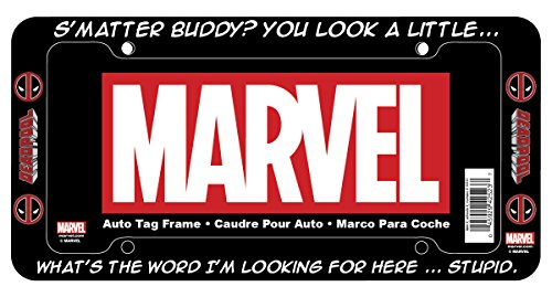 Chroma 42523 Black Deadpool S'Matter Buddy Plastic Frame (License Plate Frame Marvel compare prices)