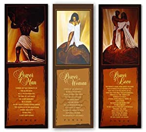 """Power Of Woman, Man, and Love (Statement Edition) Set by Kevin Williams (WAK) 36""""x12"""""""