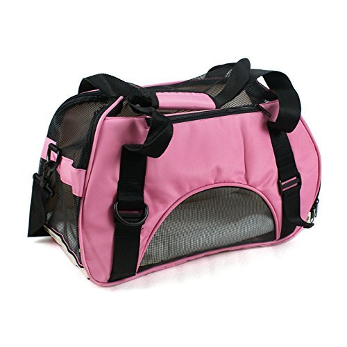 Zeny® Comfort Pet Carrier Cat/Dog Carry On Travel Tote Bag Purse Smal Animal Airline Pet Carriers-Pink