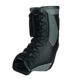 Shock Doctor Ultra Gel Lace Ankle Support (Black, Small)