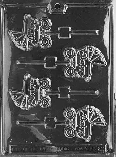 CARRIAGE LOLLY Baby Candy Mold Chocolate