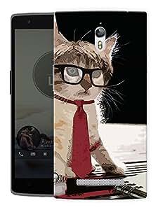 "Humor Gang Cat Cartoon Printed Designer Mobile Back Cover For ""Oppo R7"" (3D, Matte, Premium Quality Snap On Case)"