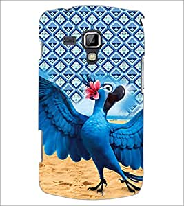 PrintDhaba Animated Parrot D-4520 Back Case Cover for SAMSUNG GALAXY S DUOS S7562 (Multi-Coloured)