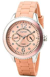 Esprit - ES105332010 - Montre Femme - Quartz Analogique - Cadran Beige - Bracelet Silicone Beige