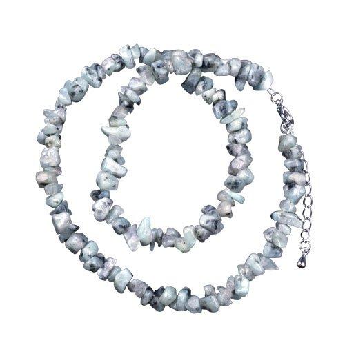 Pugster Rock Semi Precious Chip Stone Pendant Necklace