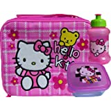 Hello Kitty Lunch Tote Insulated Bag Wth Snack Container And Water Bottle