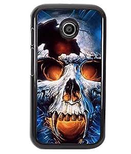 Fuson 2D Printed Skull Designer back case cover for Motorola Moto E - D4346