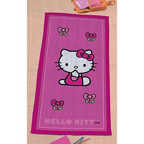 """'Hello Kitty asciugamano da bagno telo da mare 75x 150cm """"Rosa 100% cotone"""