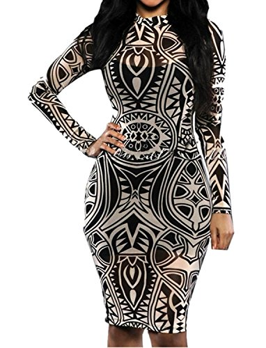 Sexy Women Tribal Tattoo Printed Party Dress Summer Dress