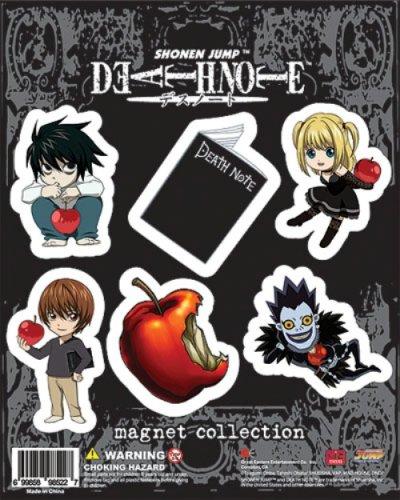 マグネットセット デスノート Death Note [エル.デスノート.リューク.弥海砂.キラ.リンゴ]【並行輸入】