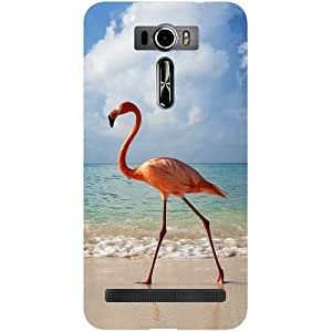 Casotec Egret Bird on Sea Design Hard Back Case Cover for Asus Zenfone 2 Laser ZE601KL