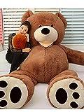HYAKURIぬいぐるみ 特大 くま/テディベア アメリカCostCo 可愛い熊 動物 260cm 大きい/巨大 くまぬいぐるみ/熊縫い包み/クマ抱き枕/お祝い/ふわふわぬいぐるみ (260CM, 画像通り)