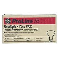 Incandescent Indoor Floodlight Bulbs w/Reflector, 65 Watts, 130 Volt, 6/Carton