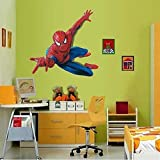 PeleusTech®3D Cartoon Spiderman Hero Wall Stickers Removable Vinly Wallpaper Decal Kids Boys Room Decor