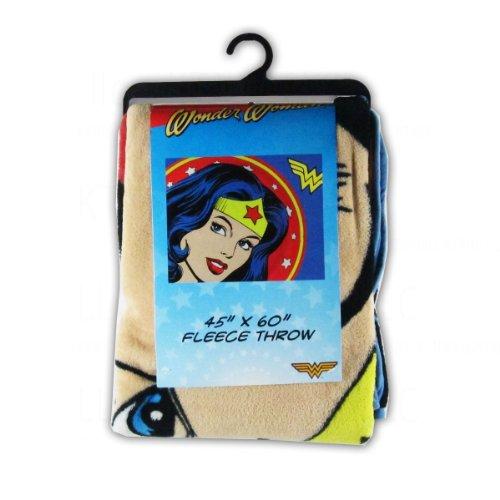 Officially Licensed Dc Comics Micro Raschel Fleece Throw Blanket - Wonder Woman