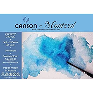 Canson Montval 300 GSM A5 Pack of 20 Fine Grain Sheets