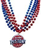 NBA Detroit Pistons Team Medallion and Mardi-Gras Bead Set