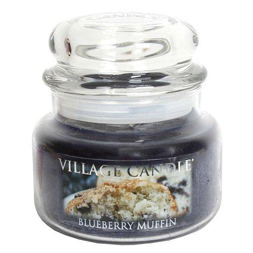 Village Candle Petite bougie parfumée en pot Jusqu'à 55 heures de combustion Parfum muffin aux myrtilles 701 g 11 x 10 cm