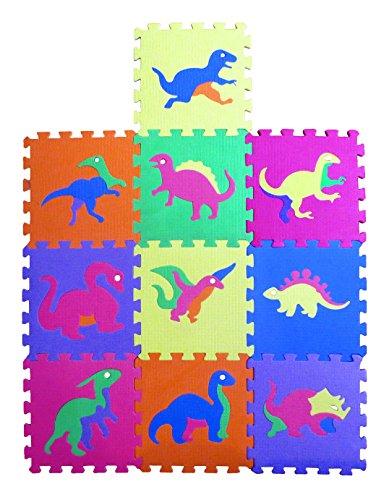Awardpedia dinosaur zoo educational foam puzzle floor for Foam block floor