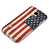 deinPhone Coque de protection en silicone rigide pour Samsung Galaxy S5 Mini Drapeau am�ricain r�tro