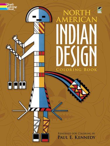North American Indian Design Coloring Book (Dover Design Coloring Books), Buch