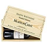 Das Mouton-Rothschild Duo - 2 Flaschen Mouton-Cadet mit Ihrer individuellen