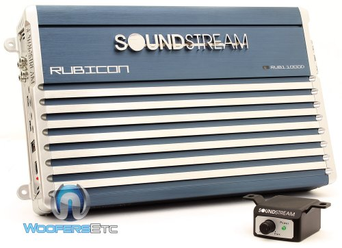 Rub1.1000D - Soundstream Monoblock 1000 Watt Rms Rubicon Series Subwoofer Amplifier