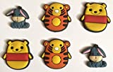 Winnie Tigger Eeyore Shoe Charms Set of 6 - suitable for Crocs Jibbitz * 35 *