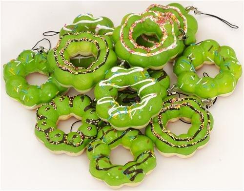 Imagen 1 de Colgante kawaii Squishy donut flor verde