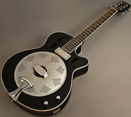 Johnson Swamp Stomper Jr-520 Acoustic Electric Resonator Guitar W Case